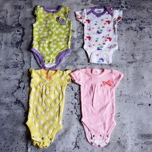 Carter's & Cat & Jack 18pc Girls Onesie Bundle NB